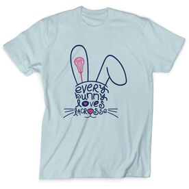 Girls lacrosse easter gifts lulalax lacrosse tshirt short sleeve every bunny loves lacrosse negle Choice Image