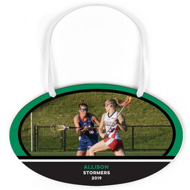Girls Lacrosse Oval Sign - Team Photo