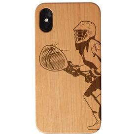 Girls Lacrosse Engraved Wood IPhone® Case - Goalie