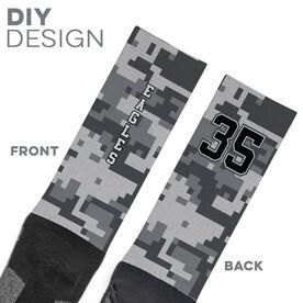Printed Mid-Calf Socks - Digital Camo Team