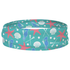 Girls Lacrosse Multifunctional Headwear - Starfish and Shells RokBAND