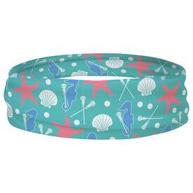 Girls Lacrosse Multifunctional Headwear - Starfish and Shells RokBAND
