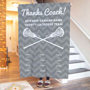 Girls Lacrosse Premium Blanket - Personalized Thanks Coach Chevron