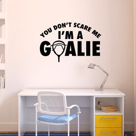 Lacrosse Removable ChalkTalkGraphix Wall Decal - I'm A Goalie