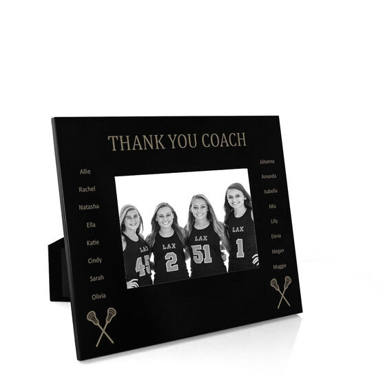 Girls Lacrosse Engraved Picture Frame
