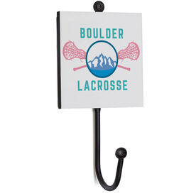 Girls Lacrosse Medal Hook - Crossed Sticks Mountain