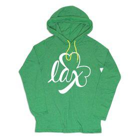 Girls Lacrosse Lightweight Hoodie - LAX Shamrock