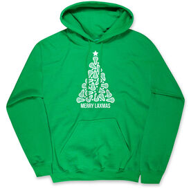 Lacrosse Hooded Sweatshirt - Merry Laxmas Tree