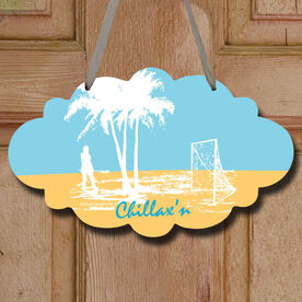 Chillax'n Girl Decorative Cloud Sign