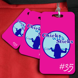 Lacrosse Bag/Luggage Tag Chicks With Sticks