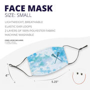 Girls Lacrosse Face Mask - Crossed Sticks with Tie-Dye