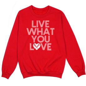 Girls Lacrosse Crew Neck Sweatshirt - Live What You Love