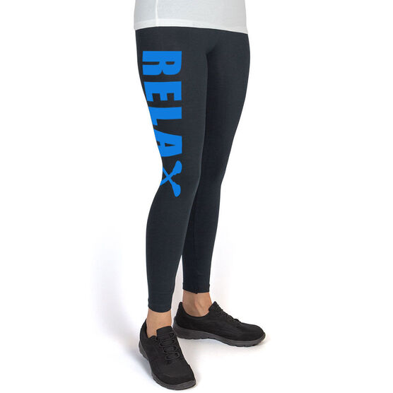 Girls Lacrosse High Print Leggings Relax