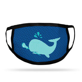 Girls Lacrosse Adult Face Mask - Chevron Lax Whale