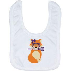 Girls Lacrosse Baby Bib - Lax Fox