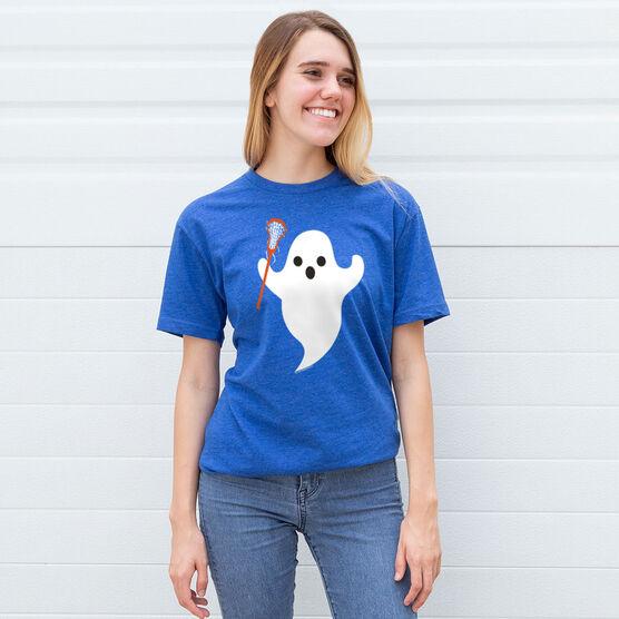 Lacrosse Tshirt Short Sleeve Ghost with Lacrosse Stick