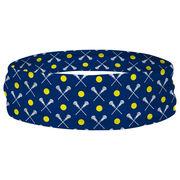 Girls Lacrosse Multifunctional Headwear - Crossed Sticks and Ball Pattern RokBAND