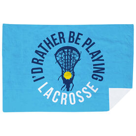 Girls Lacrosse Premium Blanket - I'd Rather Be Playing Lacrosse