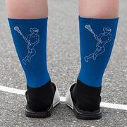 Girls Lacrosse Printed Mid-Calf Socks - Player