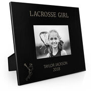 Girls Lacrosse Engraved Picture Frame - Lacrosse Girl