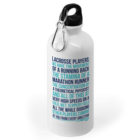Girls Lacrosse Stainless Steel Water Bottle - Lacrosse Players
