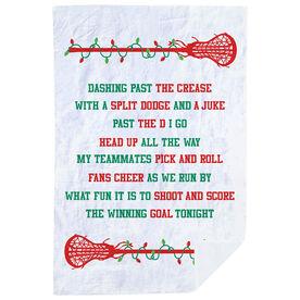 Girls Lacrosse Premium Blanket - Jingle All The Way