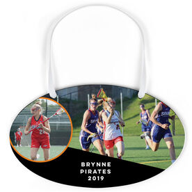 Girls Lacrosse Oval Sign - Team and Player Photo