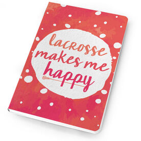 Girls Lacrosse Notebook Makes Me Happy