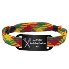 Personalized Lacrosse Shooting String Bracelet Crossed Sticks Adjustable Shooter Bracelet
