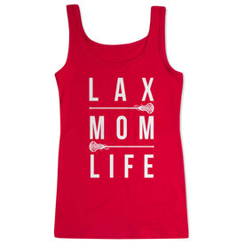 Girls Lacrosse Women's Athletic Tank Top - Lax Mom Life