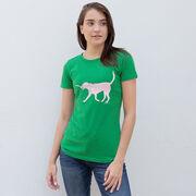 Girls Lacrosse Women's Everyday Tee - LuLa the Lax Dog (Pink)