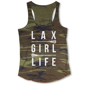 Girls Lacrosse Camouflage Racerback Tank Top - Lax Girl Life