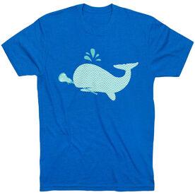 Girls Lacrosse Short Sleeve T-Shirt - Chevron Lax Whale
