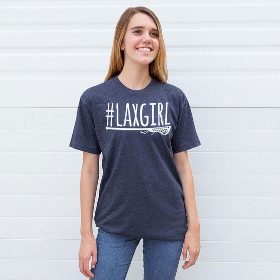 Girls Lacrosse Short Sleeve T-Shirt - #LAXGIRL