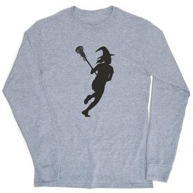 Girls Lacrosse Tshirt Long Sleeve - Lax Witch