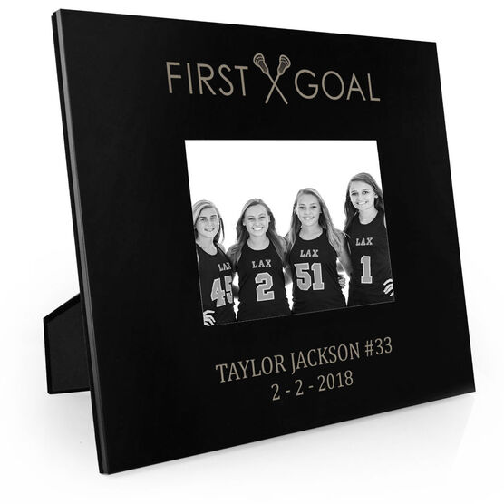 Girls Lacrosse Engraved Picture Frame - First Goal