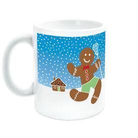 Girls Lacrosse Coffee Mug Lax Gingerbread Man