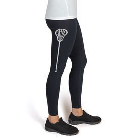 Lacrosse High Print Leggings Lacrosse Stick