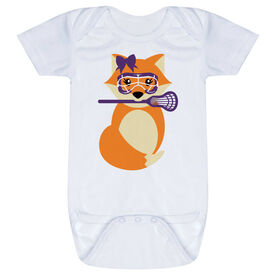 Girls Lacrosse Baby One-Piece - Lax Fox