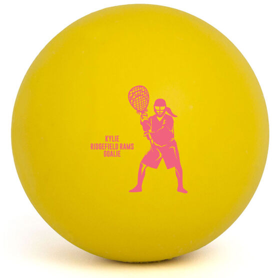 Girls Lacrosse Ball - Personalized Goalie