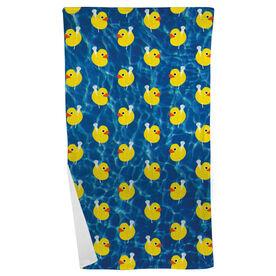 Lacrosse Beach Towel Rubber Ducky