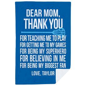 Lacrosse Premium Blanket - Dear Mom