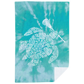 Girls Lacrosse Premium Blanket - Lax Turtle Tie-Dye