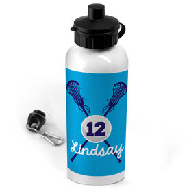 Lacrosse 20 oz. Stainless Steel Water Bottle Personalized Lacrosse Sticks And Ball Girl