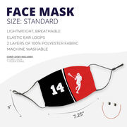 Girls Lacrosse Face Mask - Personalized Player Number