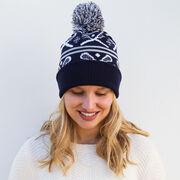 Lacrosse Knit Hat - Crossed Sticks