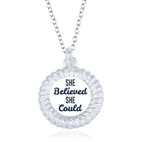 General Sports Braided Necklace - She Believed She Could
