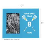 Girls Lacrosse Photo Frame - Crossed Lacrosse Sticks