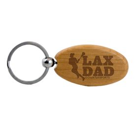 Lacrosse (Female Player) Dad Maple Key Chain