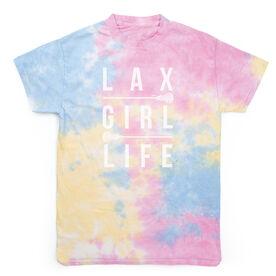 Girls Lacrosse Short Sleeve T-Shirt - LAX Girl Life Tie Dye
